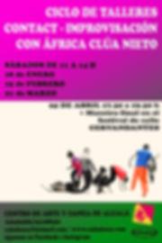Ciclo de talleres de contact improvisación con África Clúa + muestra abierta en Cervandantes
