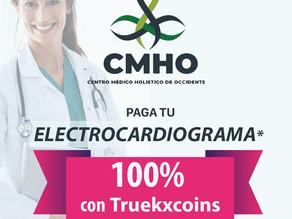 En 👩🏻⚕️ CMHO 👨🏻⚕️ electro cardiograma digital al 100% con 💰TRUEKXCOINS💰