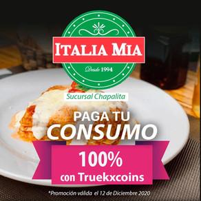 En Italia Mia Chapalita, paga tu consumo al 100% con TRUEKXCOINS💰