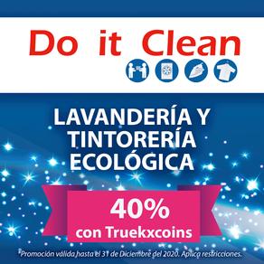 Do it Clean ♻️ Lavandería y Tintorería Ecológica al 40% con 📲 TRUEKXCOINS 💰