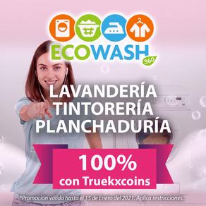 ECOWASH 360 lavandería, tintorería y planchaduría. Apoya tu economía, 📲paga  100% con TRUEKXCOINS💰