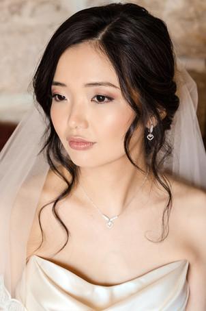 Bridal look, japoneuse bridal, asian beauty, makeup and hair.
