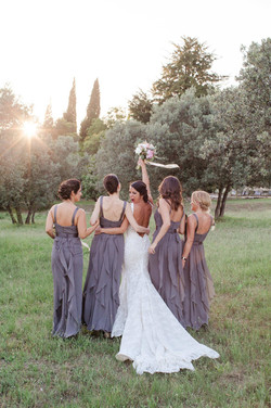 Provence weddings, bridal style, makeup and hair style
