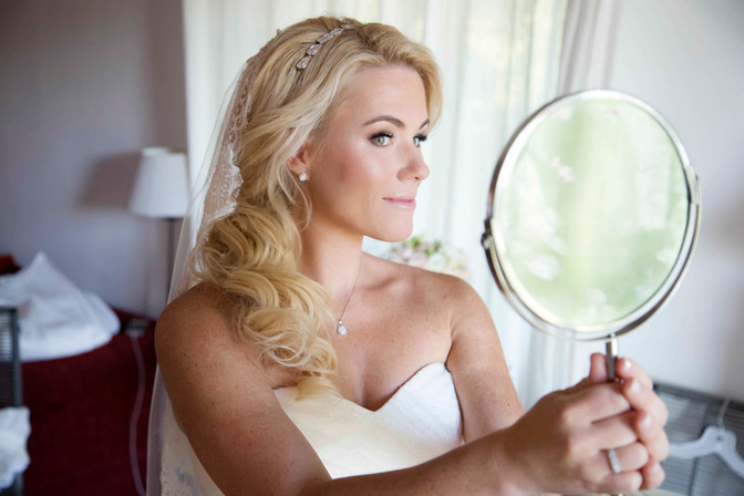 Garden weddings, makeup and hairstyle, bridal styling