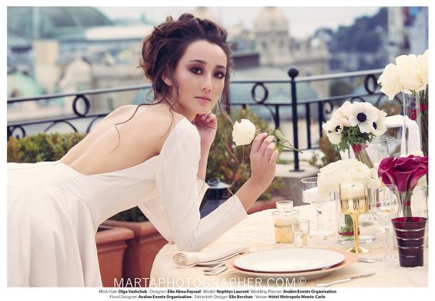 Bridal photo shoot, bridal makeup and hairstyle, smocky eyes, messy bridal updo , luxury weddings, monaco weddings
