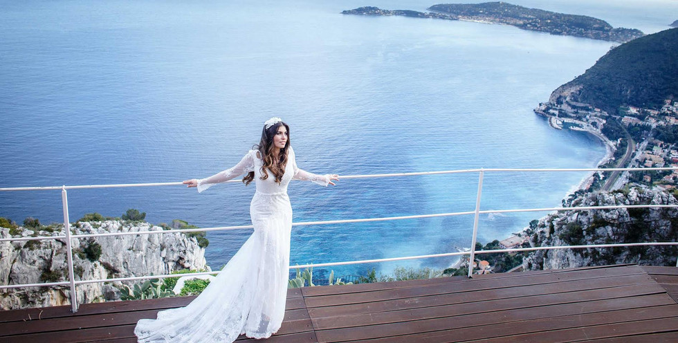 Luxury destination wedding, bridal makeup and hairstyle, bridal stylist, french riviera weddings, hotel chevre d'or