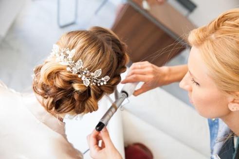 Bridal hairstyle, bridal stylist, french riviera weddings