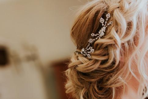 Bridal hair, detils, bridal stylist, french riviera weddings