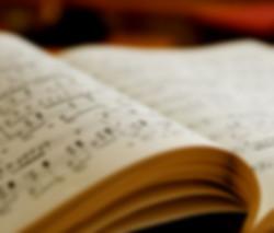 Sheet music book unfolding