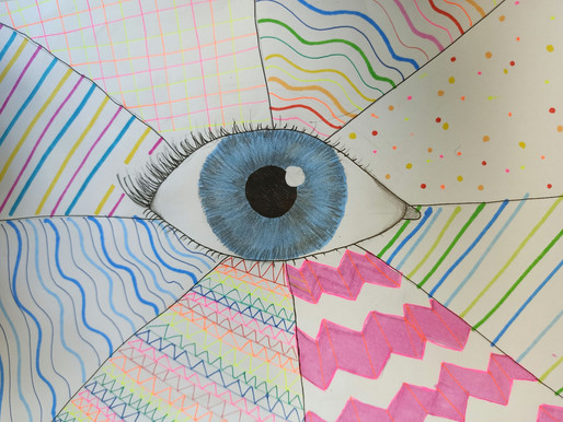 'Eye' see a pop of colour.