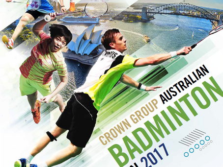 Enter the 2017 CROWN GROUP Australian Badminton Open