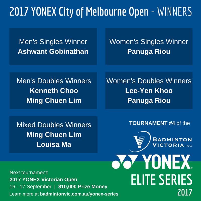 Results 4 YONEX ELITE SERIES