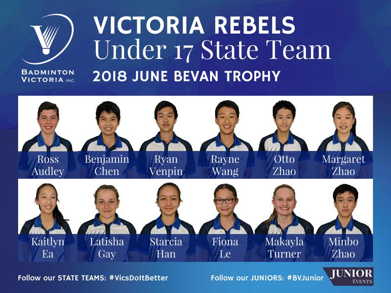 2018 U17 Rebels