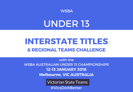 Under 13 State Teams for 2018