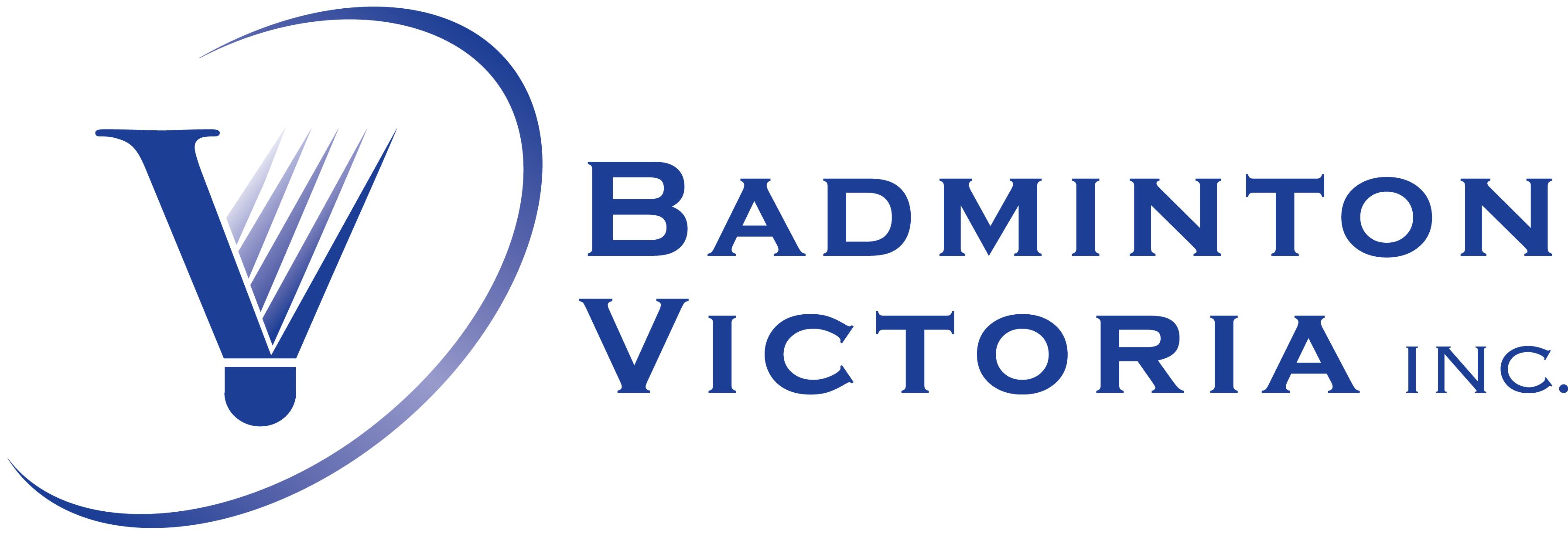 Badminton Victoria Logo - Horizontal - PNG Format