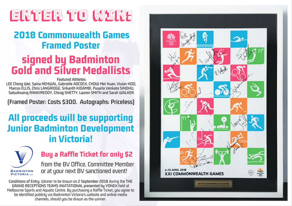 WIN an autographed Gold Coast 2018 Commonwealth Games Poster!