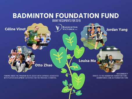 Apply Now: Badminton Foundation Fund 2020