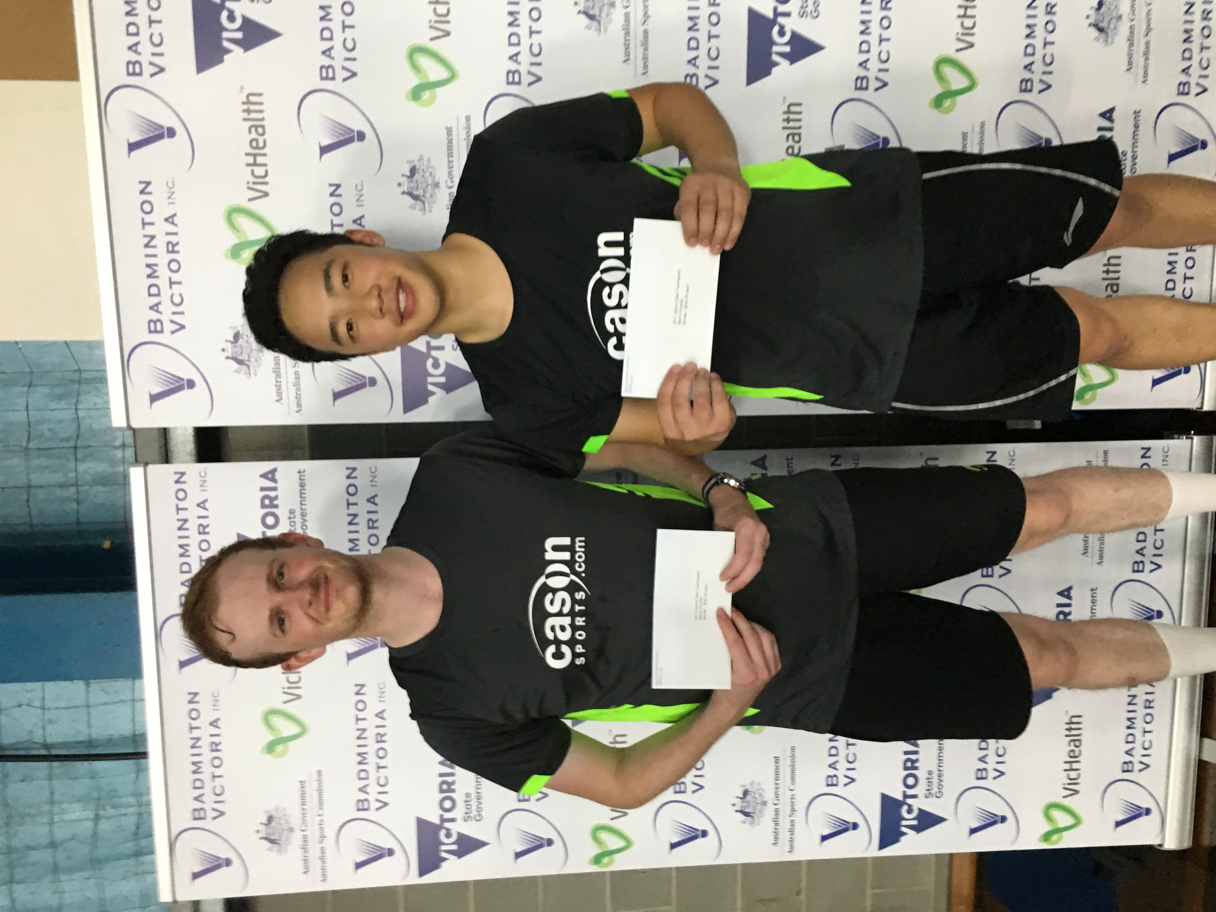 2017 Yonex Altona Open Winners Mens Doubles Joel Findlay & Jeff Tho