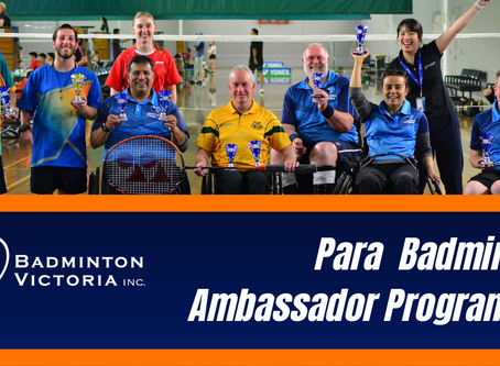 Para Badminton Ambassador Programme with Badminton Victoria