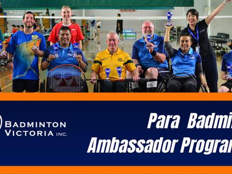 Extended Nominations: Para Badminton Ambassador Programme with Badminton Victoria