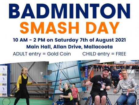 NEW DATES: Mallacoota Badminton Smash Day!