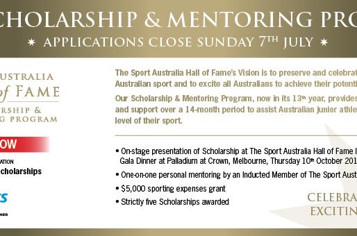 2020 Scholarship & Mentoring Program Applications - Sports Australia Hall of Fame