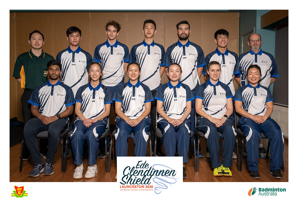 Official team photo of the 2020 Badminton Victoria Smashers State Team