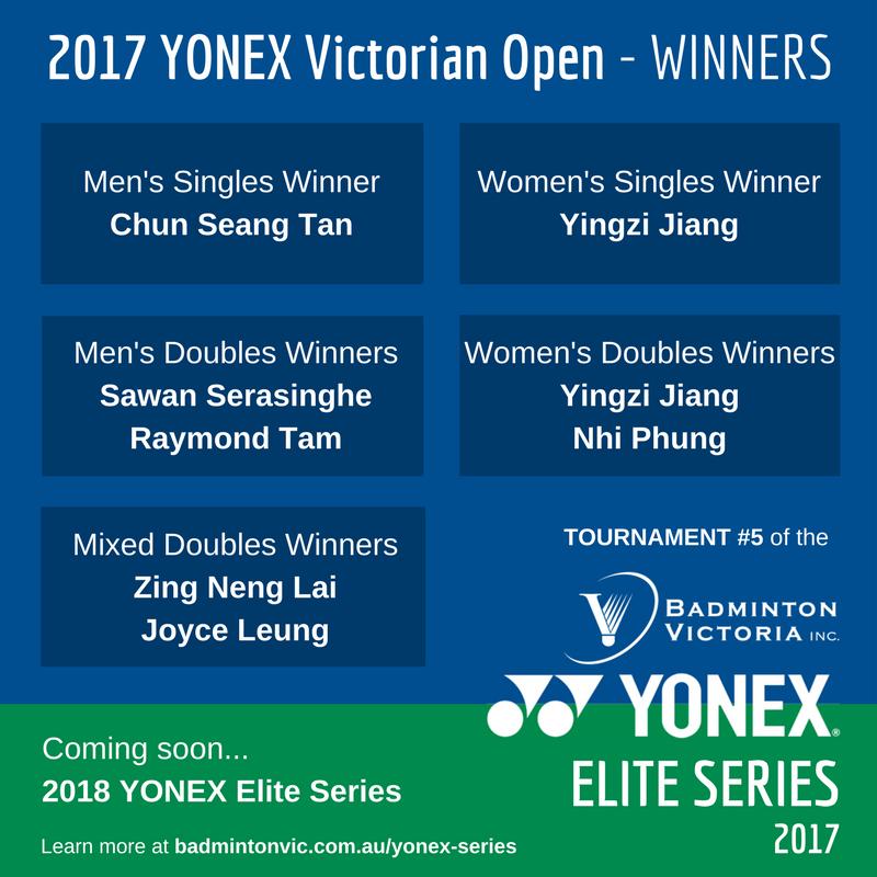 Results YONEX ELITE SERIES