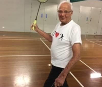 Happy 95th Birthday John Newton - Australia's oldest shuttler?