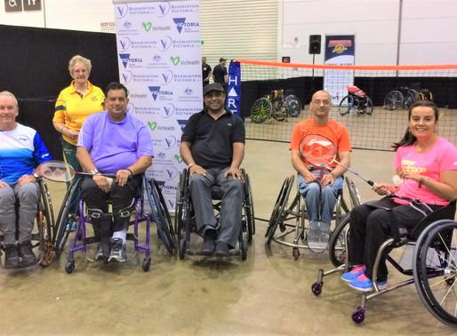 At the 2017 Arnold Classic: Wheelchair Para-Badminton