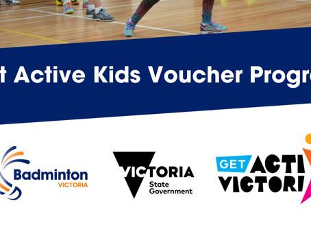 Get Active Victoria Kids Voucher Program