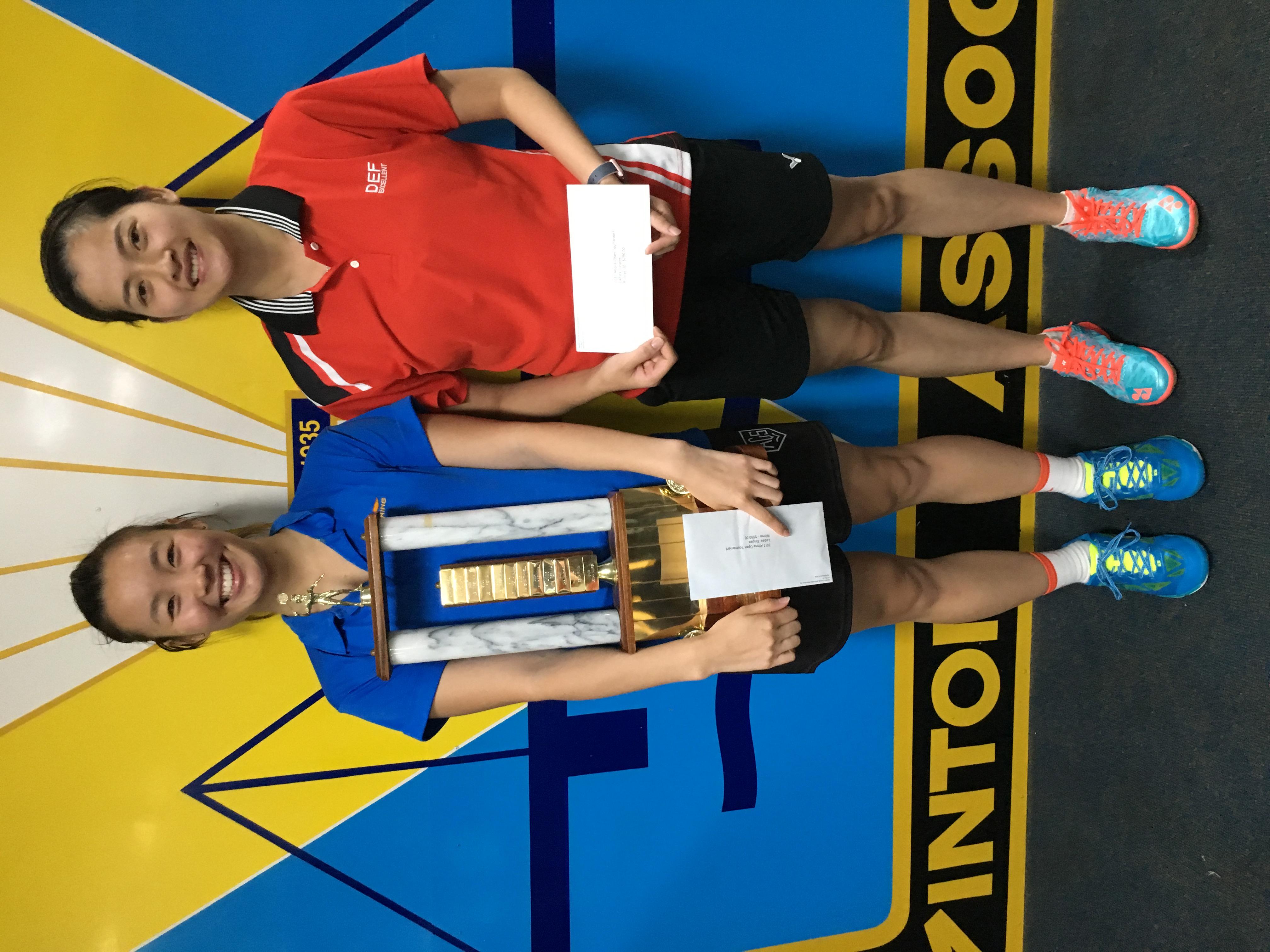 2017 Yonex Altona Open Winner Womens Singles Joy Lai, Runner Up  Nhi Phung