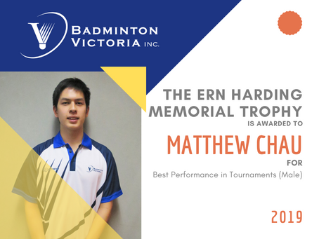 Badminton Victoria Perpetual Trophy Winners of 2019