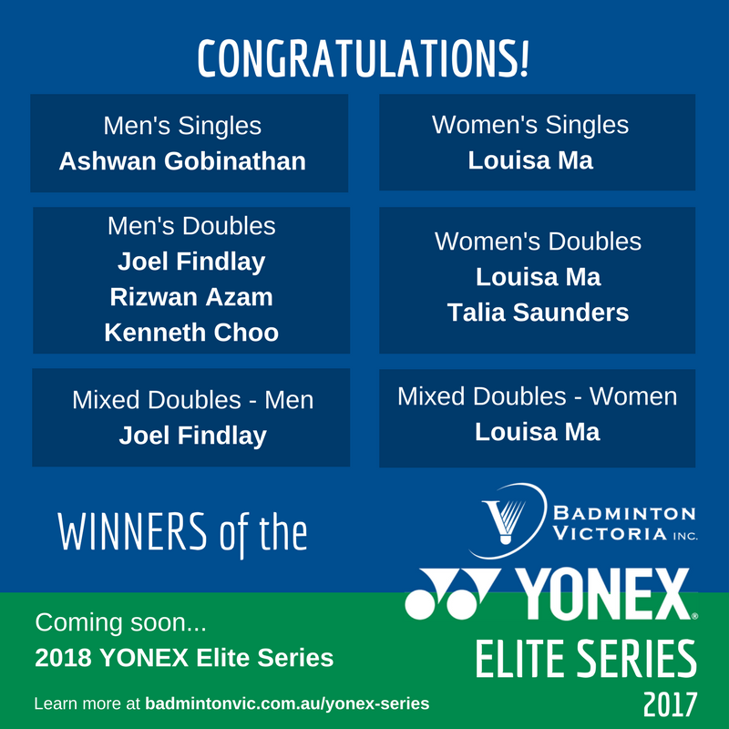 2017 YONEX Elite Series - Winners