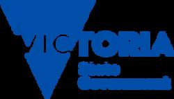 Victoria State Gov logo PMS 2945 rgb