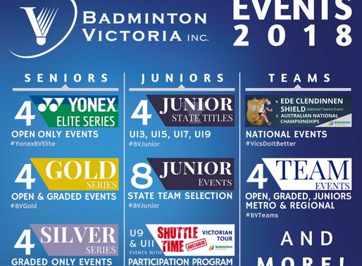 2018 BV Calendar Announcement