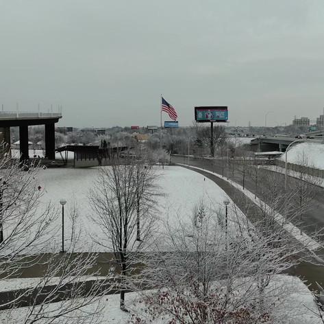 Snow in Louisville Waterfront Park