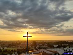 High above Southeast Christian Church