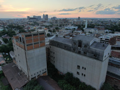 Adandoned grain elevators in Downtown Louisville