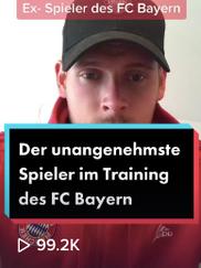 Der unangenehmste Spieler im Training des FC Bayern München