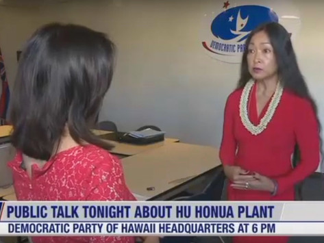 Democratic Party of Hawaii - Melodie Aduja Testimony