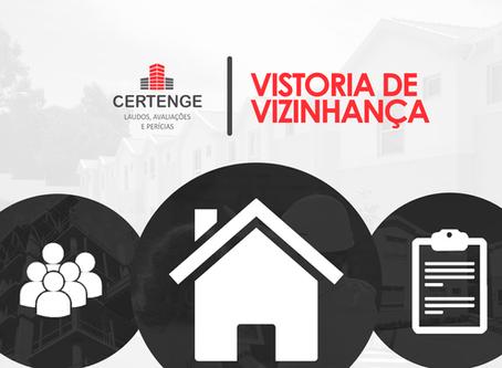 Vistoria Cautelar de Vizinhança - Orientações para a Contratação