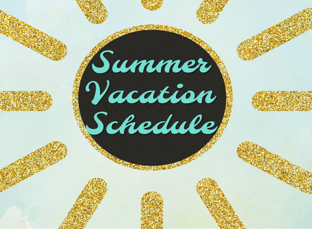 2019 Summer Shutdown Schedule