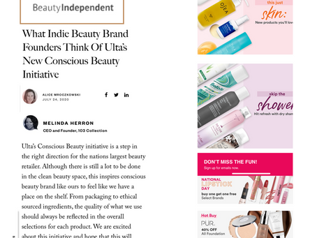 Ulta Beauty Conscious Initiative | 103 Collection