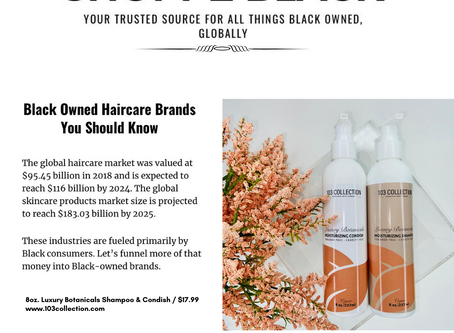 Shoppe Black Featuring 103 Collection as a Black Owned Hair Care Brand You Should Know