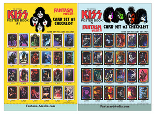 Vintage Style Checklist For Your Fantasm Media KISS Cards