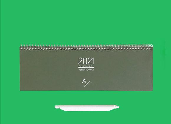Weekly Planner - Med Green