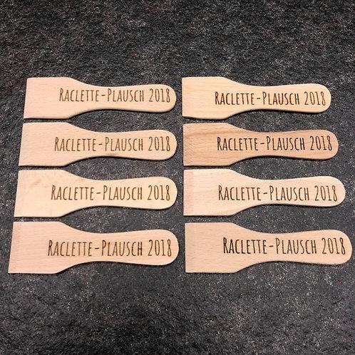 Raclette Spachtel mit individueller Lasergravur