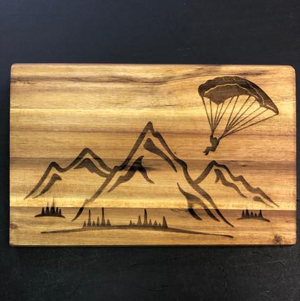 Lasergravur Gleitschirmflieger
