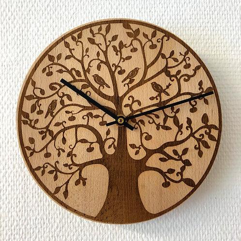 Tree of Life Holzuhr 21 cm